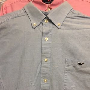 LN Vineyard Vines blue Slim fit Tucker Shirt XXL